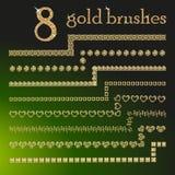 Gold glitter brushes. Stock Photography