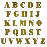 Gold glitter capital letters, isolated Royalty Free Stock Images