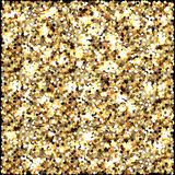 Gold glitter. Celebratory background. Round elements gold shades. Glow effect. New Year, Christmas, wedding, birthday. Gold glitter. Celebratory background stock illustration