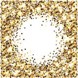 Gold glitter. Celebratory background. Round elements gold shades. Glow effect. New Year, Christmas, wedding, birthday. Gold glitter. Celebratory background vector illustration