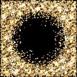 Gold glitter. Celebratory background. Round elements gold shades. Glow effect. New Year, Christmas, wedding, birthday. Gold glitter. Celebratory background royalty free illustration