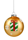 Gold Glitter Christmas Ball Royalty Free Stock Photography