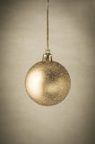 Gold Glitter Christmas Bauble Stock Photo