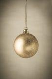 Gold Glitter Christmas Bauble Stock Photo