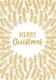 Gold glitter Christmas card Stock Image