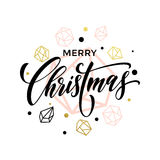 Gold glitter Christmas ornaments Royalty Free Stock Image