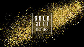 Gold Glitter Cloud Or Shining Particles Explosion Texture. Amber Particles Color. Celebratory Background. Golden Explosion Of Conf Royalty Free Stock Images
