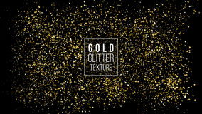 Gold Glitter Cloud Or Shining Particles Explosion Texture. Luxury Golden Sparkles Effect. Vector Dark Background. Like Sparkling C royalty free illustration