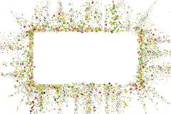 Gold glitter confetti texture with plase for text on a white background. Golden explosion of confetti. Golden grainy. Dust abstract texture on a black stock illustration