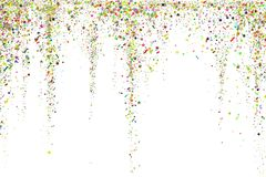 Gold glitter confetti texture on a white background. Golden explosion of confetti. Golden grainy dust abstract texture. On a black background. Christmas stock illustration