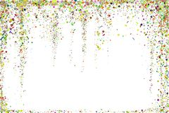 Gold glitter confetti texture on a white background. Golden explosion of confetti. Golden grainy dust abstract texture. On a black background. Christmas vector illustration