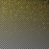 Gold glitter confetti vector. Falling golden star dust isolated on transparent background. Christmas. Texture. Vector illustration stock illustration