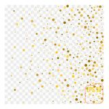 Gold glitter corners for frame or border, background vector   Stock Photography