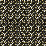 Gold glitter dots on black background. Royalty Free Stock Photos