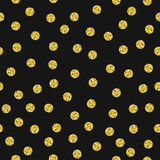 Gold glitter dots pattern Royalty Free Stock Photos