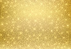 Gold glitter dust texture shining on golden background. Gold par Royalty Free Stock Photo