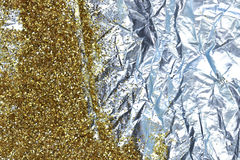 Gold glitter and foil Royalty Free Stock Photo