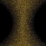 Gold glitter.Gold dust background on black.Gold sparkles.Vector Royalty Free Stock Image