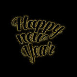Gold glitter Happy New Year 2017 Royalty Free Stock Photos