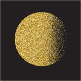 Gold glitter heart card. Valentine card concept. Vector illustra Royalty Free Stock Photography
