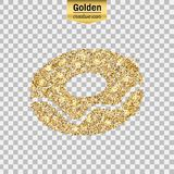 Gold glitter  icon Royalty Free Stock Images