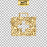 Gold glitter  icon Stock Images
