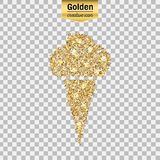 Gold glitter  icon Stock Image
