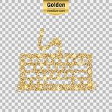 Gold glitter  icon Royalty Free Stock Photography