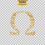 Gold glitter  icon Stock Photos