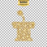 Gold glitter  icon Royalty Free Stock Photo