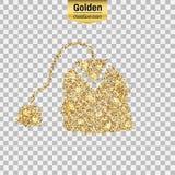 Gold glitter  icon Royalty Free Stock Photos