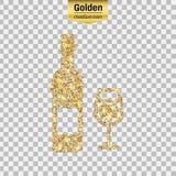 Gold glitter  icon Stock Image