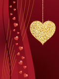 Gold glitter love heart Stock Photography