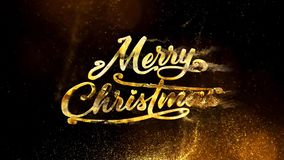Gold and Glitter Merry Christmas 4K Loop