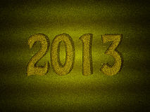 Gold glitter new year 2013 background Royalty Free Stock Images