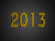 Gold glitter new year 2013 business background Stock Image
