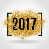 Gold glitter New Year Royalty Free Stock Photography