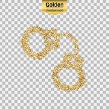 Gold glitter  object Royalty Free Stock Photography