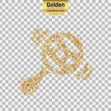 Gold glitter  object Stock Photos