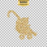 Gold glitter  object Royalty Free Stock Image