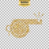 Gold glitter  object Royalty Free Stock Photos