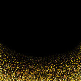 Gold glitter particles background effect for luxury greet Royalty Free Stock Images