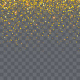 Gold glitter particles background effect for luxury greet Stock Photos