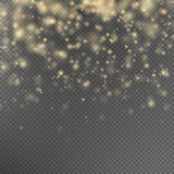 Gold glitter particles effect. EPS 10 Royalty Free Stock Images