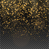 Gold glitter particles expensive on a transparent background Royalty Free Stock Photography