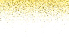 Gold glitter particles on white background. Vector Royalty Free Stock Photo