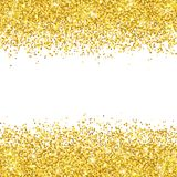 Gold glitter placer on white backround. Vector. Illustration Stock Photos