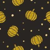 Gold glitter pumpkins. royalty free illustration