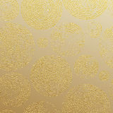 Gold glitter rings luxury seamless pattern wallpaper. Golden rings with gold glitter texture. Seamless pattern for luxury modern interior wallpaper, tile Royalty Free Illustration