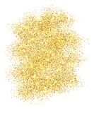 Gold glitter sand frame isolated on white background. Golden texture confetti, sequins, dust spray. Bright pattern royalty free illustration